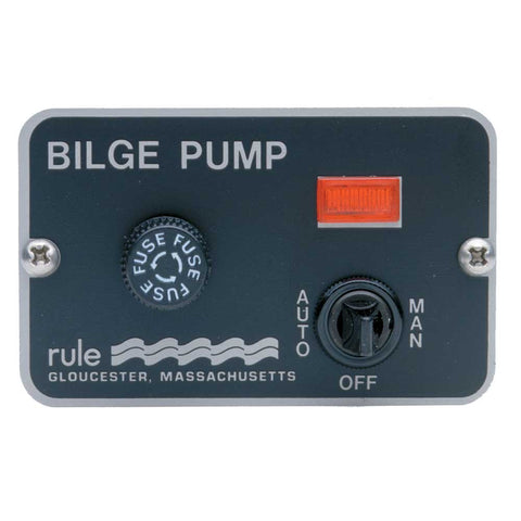Rule Deluxe 3-Way Panel Lighted Switch f/Auto Float 24/32VDC - Reel Draggin' Tackle