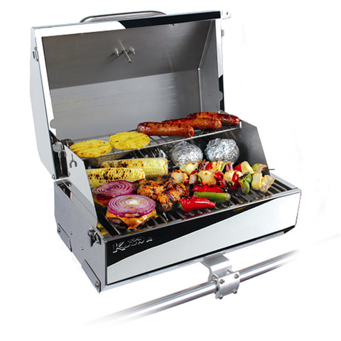 "Kuuma 216 Elite Gas Grill - 216"" Cooking Surface - Stainless Steel - Reel Draggin' Tackle"