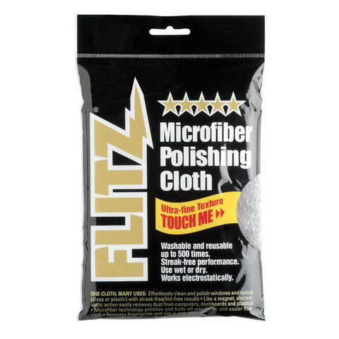 "Flitz Microfiber Polishing Cloth - 16"" x 16"" - Single Bag - Reel Draggin' Tackle"