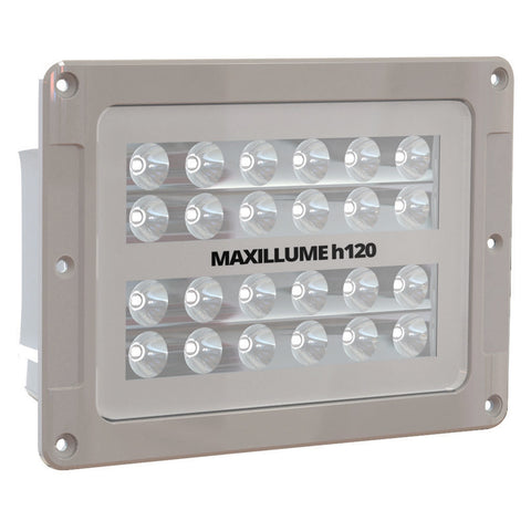 Lumitec Maxillumeh120 - Flush Mount Flood Light - White Housing - White-Dimming - Reel Draggin' Tackle
