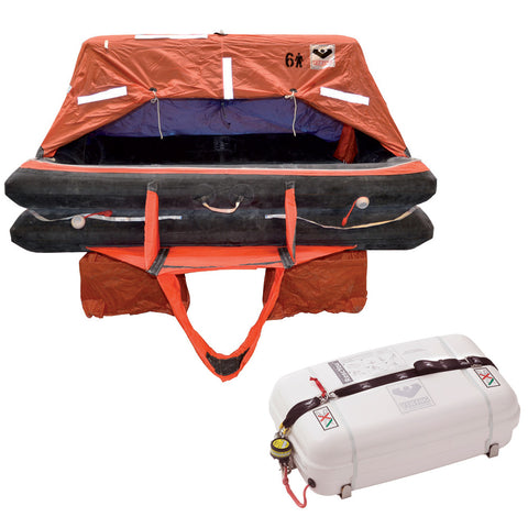 VIKING Coastal Life Raft 4 Person Low Profile Container - Reel Draggin' Tackle