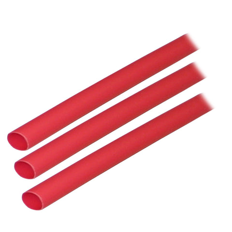 "Ancor Adhesive Lined Heat Shrink Tubing (ALT) - 1/4"" x 3"" - 3-Pack - Red"