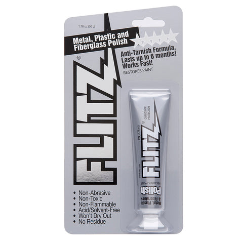 Flitz Polish - Paste - 1.76oz Tube - 3-Pack