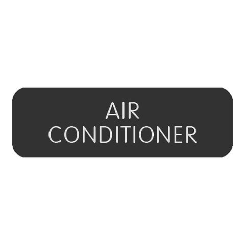 "Blue Sea Large Format Label - ""Air Conditioner"""