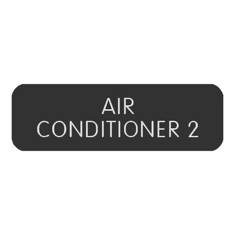 "Blue Sea Large Format Label - ""Air Conditioner 2"""
