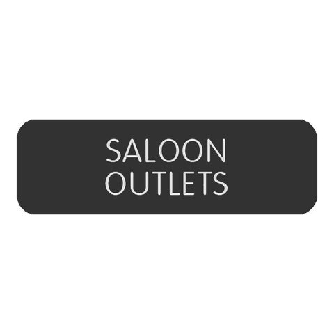 "Blue Sea Large Format Label - ""Saloon Outlets"""