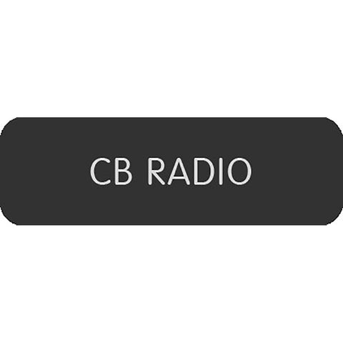 "Blue Sea Large Format Label - ""CB Radio"""