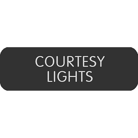"Blue Sea Large Format Label - ""Courtesy Lights"""
