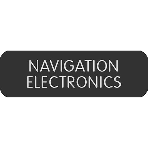 "Blue Sea Large Format Label - ""Navigation Electronics"""
