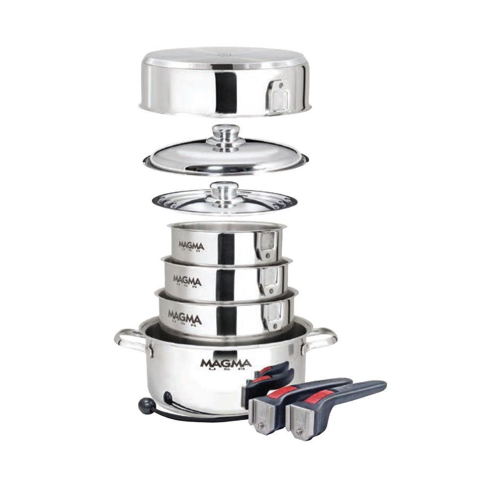 Magma Professional Series 10-piece Gourmet Nesting Induction Cookware - *case Of 4*
