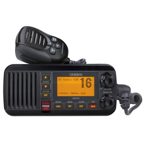 Uniden UM435 Fixed Mount VHF Radio - Black