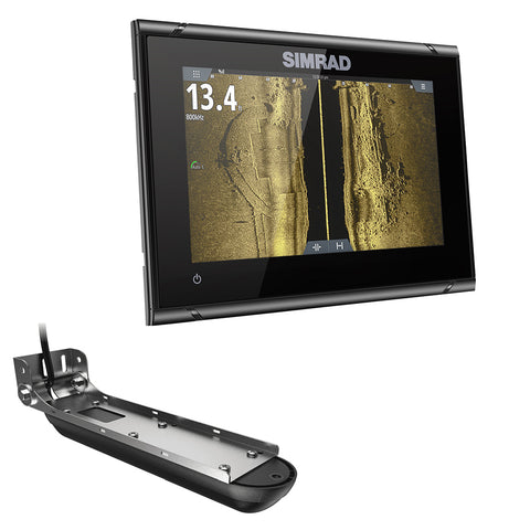 Simrad GO7 XSR Chartplotter/Fishfinder w/Active Imaging 3-in-1 Transom Mount Transducer & C-MAP Discover Chart