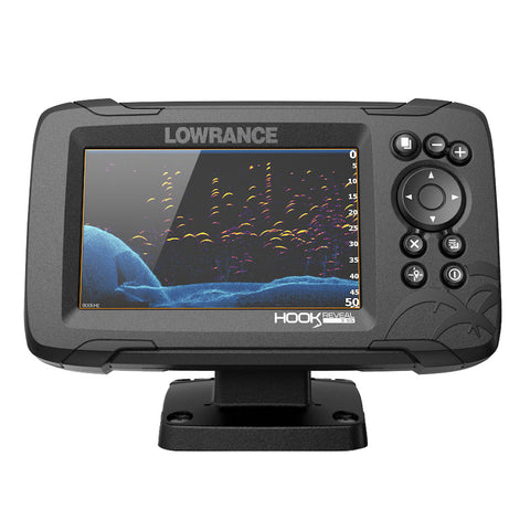 Lowrance HOOK Reveal 5 Combo w/50/200kHz HDI Transom Mount & C-MAP Contour™+ Card