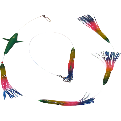Humming  Bird Squid Slammin' Daisy Chain - Reel Draggin' Tackle - 1