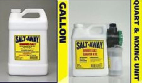Salt Away GALLON w/mixing unit plus one quart marine corrosion remover - Reel Draggin' Tackle - 1