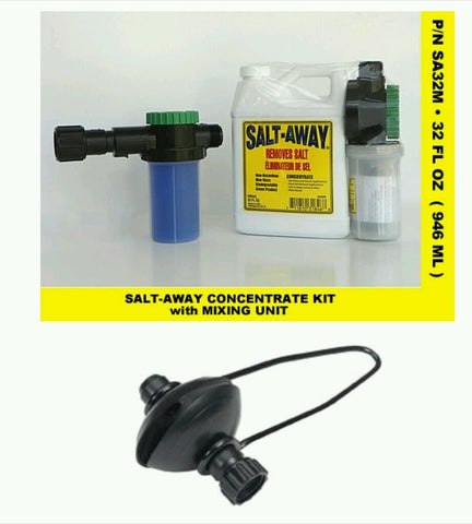 SALT AWAY 32oz CONCENTRATE & 6oz MIXING UNIT (SA32M) + 1 Universal motor flusher - Reel Draggin' Tackle - 1