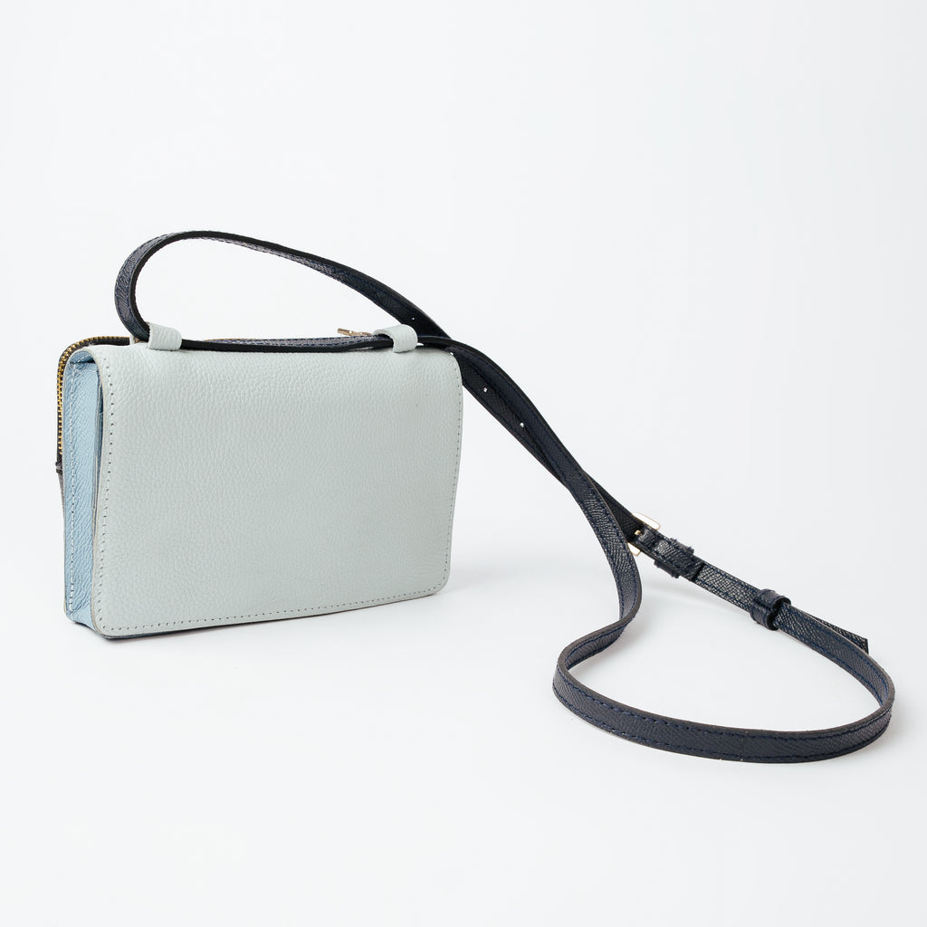 Safe & Sound Sling Bag in Blue Mix