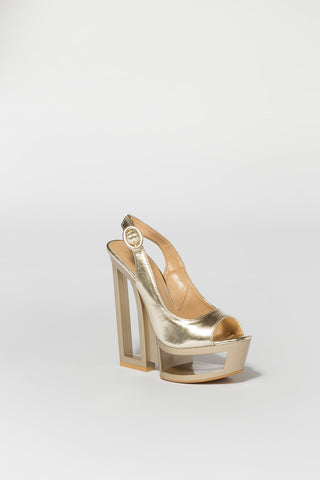 Gold Sling Back Wedge Second