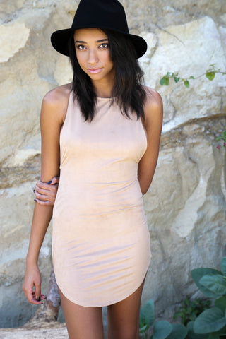 Ultra Suede Tank Dress with Racer Back Second