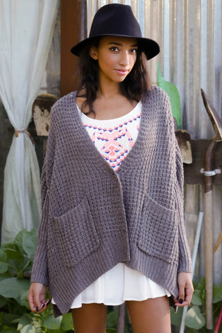Drape and Slouch Cardigan Sweater