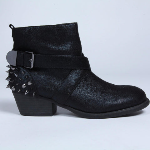 Black Ankle Boots with Studs