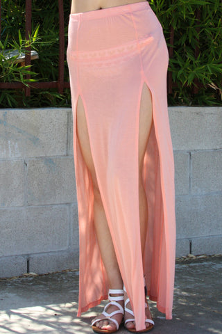 Beach Maxi Skirt with Two slits