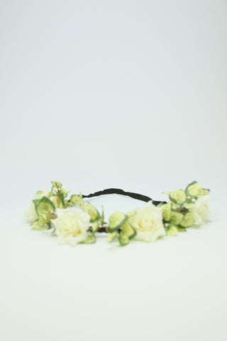 3 White Roses Hairband Second