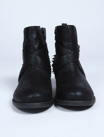 Black Ankle Boots with Studs Second