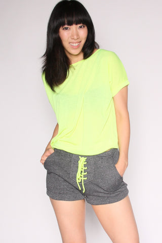 Workout Shorts - Neon Yellow