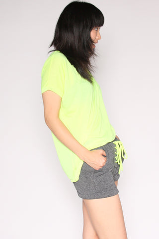 Workout Shorts - Neon Yellow Second