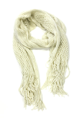 Extremely Light & Soft Scarf with Fringed Edges
