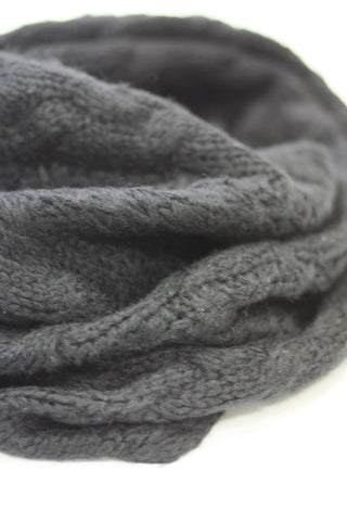 Infinity Warm Scarf - Black