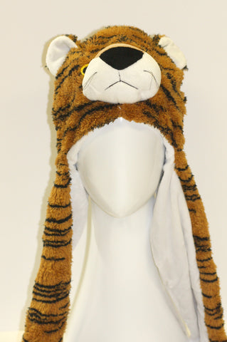 Tiger Animal Hat with Mitten Scarf Second