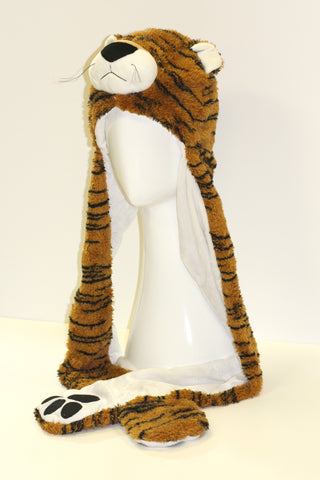 Tiger Animal Hat with Mitten Scarf