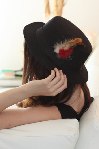 Fedora with Feather Second
