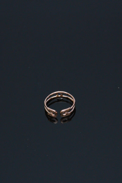 Safety Pin Midi Ring - Rose Gold