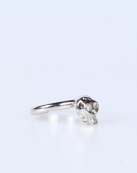 Silver Skull Knuckle Ring