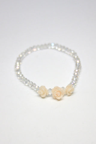 Rose Crystal Bracelet-White