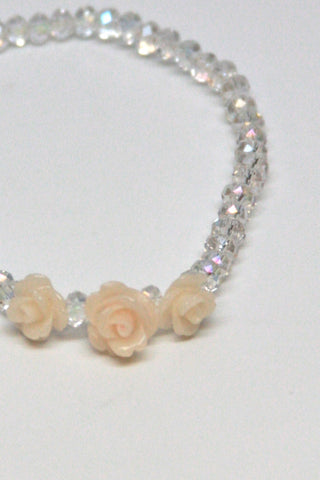 Rose Crystal Bracelet-White Second