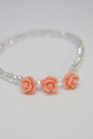 Rose Crystal Bracelet-Pink Second