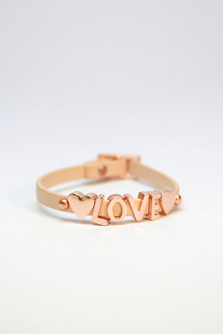 LOVE leather bracelet
