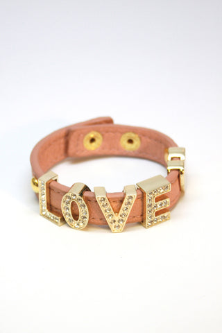 LOVE leather snap bracelet Second