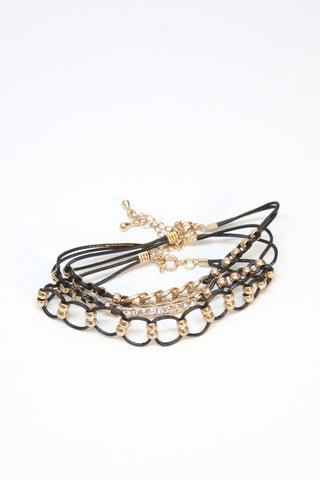 Gold and Black Bracelet Trio