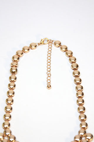 Gold Beads Statement Necklace Second
