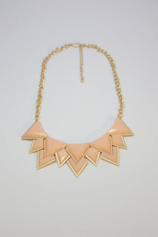 Peach Geometric Necklace