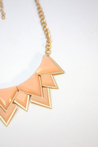 Peach Geometric Necklace Second