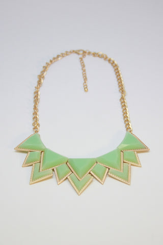 Mint Geometric Necklace