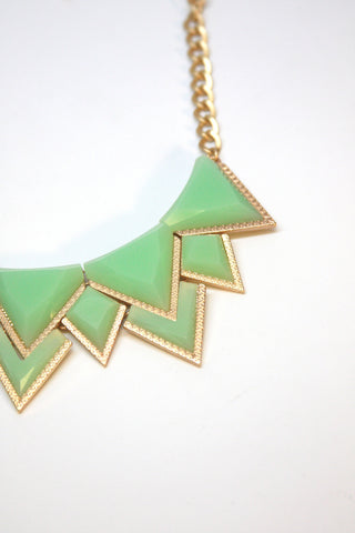 Mint Geometric Necklace Second