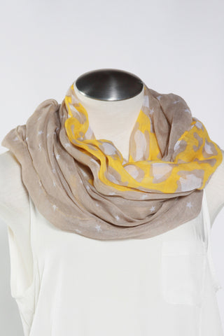 Spotted Animal Scarf-Yellow