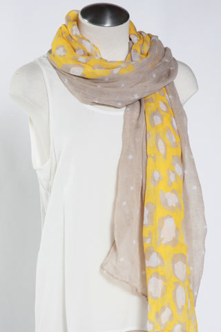 Spotted Animal Scarf-Yellow Second